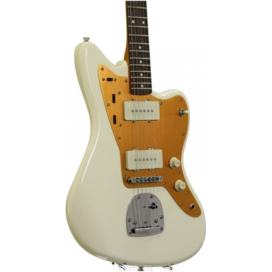 Fender Squier J Mascis Signature Jazzmaster - Vintage White with Indian Laurel Fingerboard