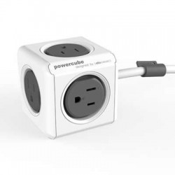 Allocacoc 7300GY/UKEXPC PowerCube Extended 3m Cable - Grey