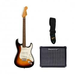 Fender 0374010500 Squier Classic Vibe '60s Stratocaster Electric Guitar Bundle - 3-Color Sunburst