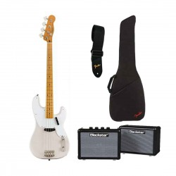 Fender 374500501 Squier Classic Vibe 50s Precision Bass Bundle - White Blonde