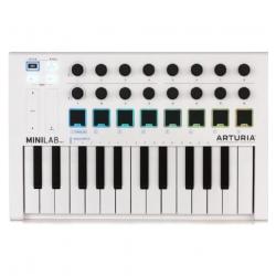 Arturia MiniLab MkII 25 Slim-key Controller White