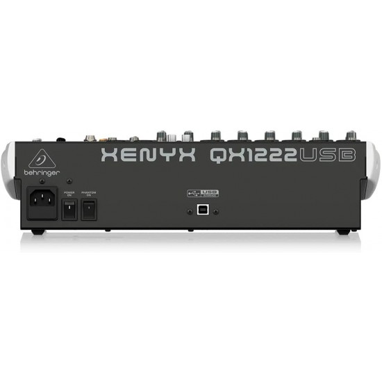 Behringer Xenyx QX1222USB Mixer with USB and Effects