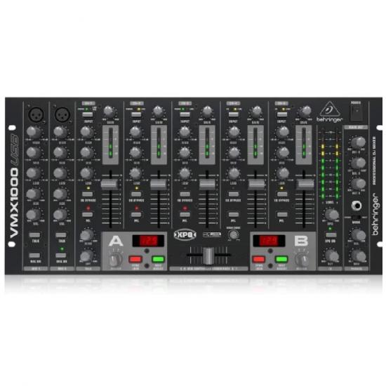Behringer -Pro Mixer VMX1000USB Professional 7-Channel Rack-Mount Dj Mixer