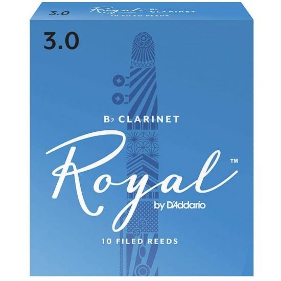 Rico Royal Bb Clarinet Reeds - 3.0 (Box Of 10)