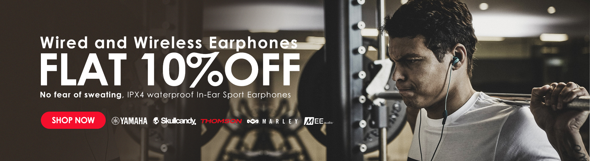 Wired and wireless earphones on sale