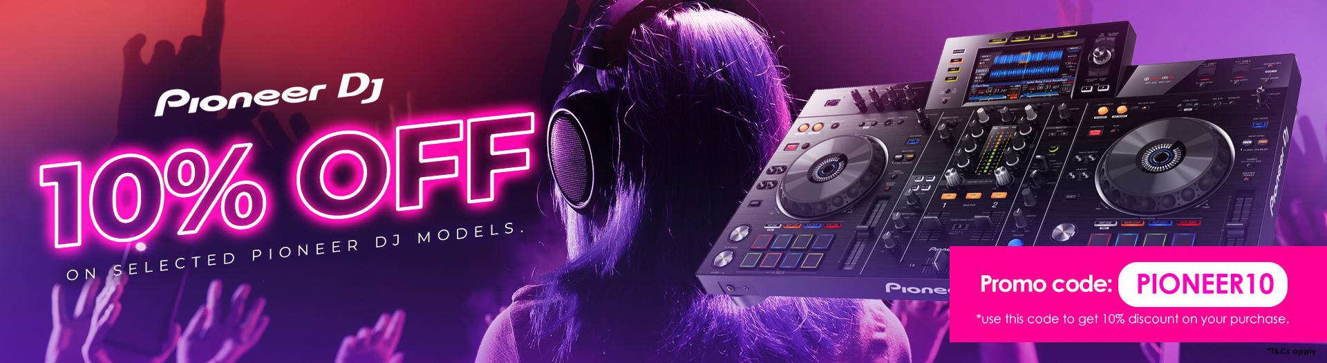 PIONEER DJ equipments 10% OFF