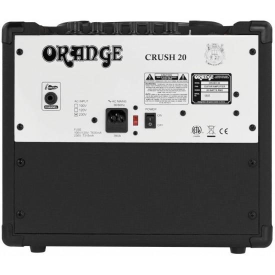 """Orange Crush 20RT 1x8"""" 20-watt Combo Amp - Black"""