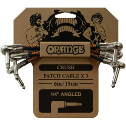 Orange CA038 Instrument Cable Crush 6 Patch Cable 3 pack