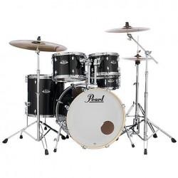 Pearl EXX725SP/C 31 Export Standard 5pc Drum Set - Jet Black Finish With 830 Series Hardware