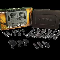 Shure PGADRUMKIT6 Six Piece Drumkit Microphone Set