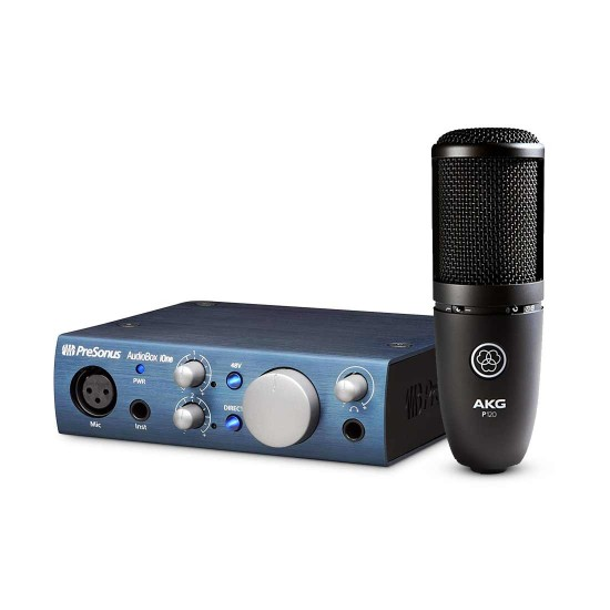 AKG P120 Large-diaphragm Condenser Microphone with Audio box Aione Bundle