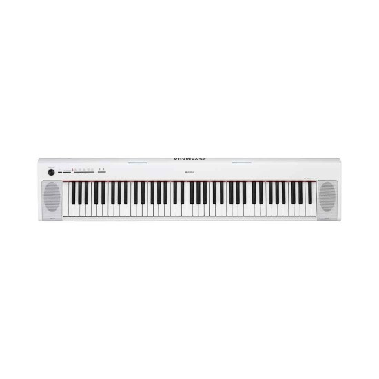 Yamaha NP-32WH 76 Keys Portable Piano-Style Keyboard With Power Adaptor - White
