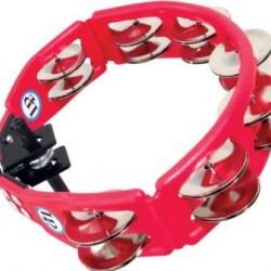 Latin Percussions Cyclops Jingle Tambourine, Steel/Red/Mountable