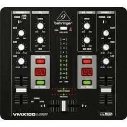 Behringer -Pro Mixer VMX100USB Professional 2-Channel Dj Mixer