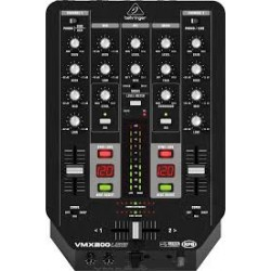 Behringer -Pro Mixer VMX200USB Professional 2-Channel Dj Mixer