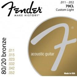 Fender 60L 0730070405 Acoustic Guitar 80-20 Ball End Strings