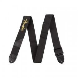 Fender 2 Black Poly Strap - Yellow