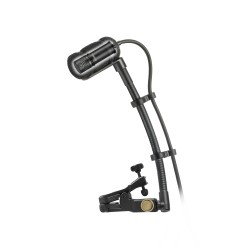 """Audio Technica ATM350U Cardioid Condenser Instrument Microphone with Universal Clip-on Mounting System (5"""" Gooseneck)"""