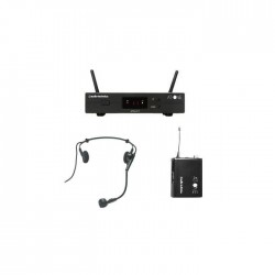 Audio Technica ATW-11F AT-One Beltpack System With PRO8HEcWHypercardioid Dynamic Headworn Microphone