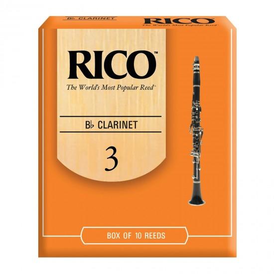 Rico Bb Clarinet Reeds - 3.0 (Box Of 10)