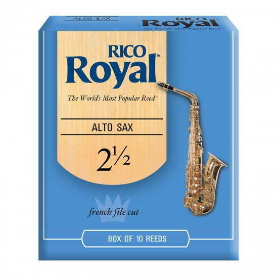 Rico Royal Alto Saxophone Reeds - 2.5 (Box Of 10)