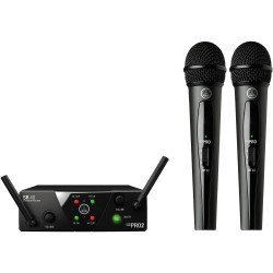 AKG WMS40 Mini Dual Vocal Set Wireless Microphone System