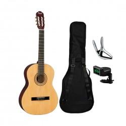 Fender Squier 0961091021B SA150N Classical Guitar Bundle - Natural
