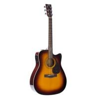 Yamaha FX370C Acoustic Electric Guitar, Tobacco Su...