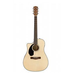 Fender  CD-60SCE Dreadnought Cutaway Left Hand Semi Acoustic Guitar 0961706021 - Natural
