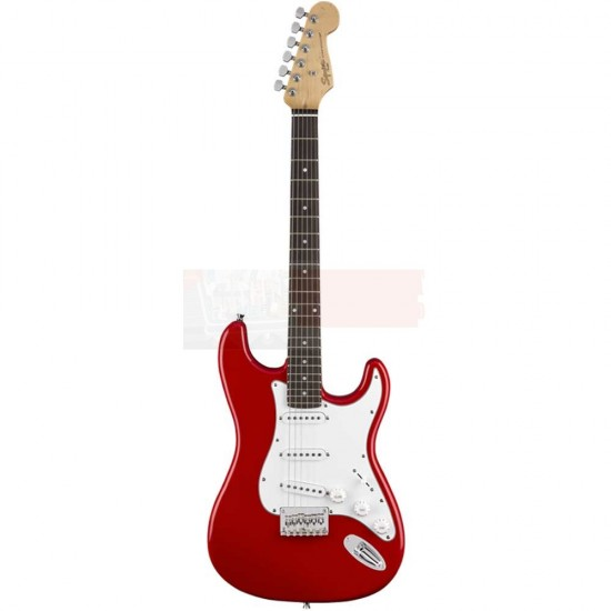 Fender Squier MM Stratocaster HT Electric Guitar Red- 0370910558