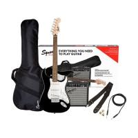 Fender Squier 0371823406 Electric Guitar Pack, Bla...