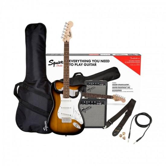 Fender Squier 0371823432 Electric Guitar Pack, Brown Sunburst