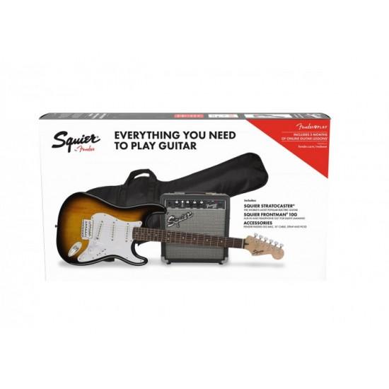 Fender SQ Pack Strat BSB GB 10G 230V EU - 0371823632