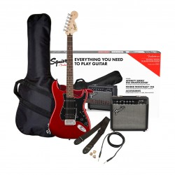 Fender Affinity Series 0371824409 Stratocaster HSS Electric Guitar Pack, Candy Apple Red