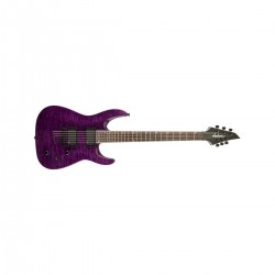 Charvel Pro-Mod So-Cal Style 1 HH Freestyle Guitar, 22 Frets, Bolt-On Maple Speed Neck, Aged Ebony Fingerboard,Transparent Purple