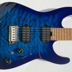 Charvel Pro-Mod Dk24 Hh 2pt Cm Qm, Electric Guitar - Caramelized Maple/Chlorine Burst - 2969411521