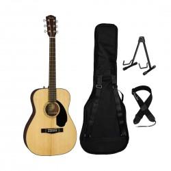 Fender CC-60S 0970150021B Concert Acoustic Guitar Bundle - Natural