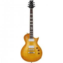 ESP LTD - Alex Skolnick AS1 Signature, Flame Maple In Lemon Burst Finish Include Hard Case