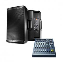 JBL EON612 Bundle Powered Loud Speaker with Free Soundcraft EPM6 Mixer (Worth 799)