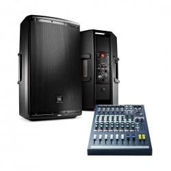JBL EON615 Bundle Powered Loud Speaker with Free Soundcraft EPM6 Mixer (Worth 799)