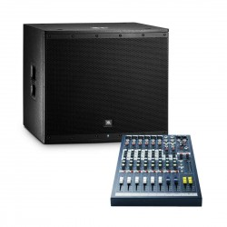 JBL EON618S Bundle Powered Subwoofer with Free Soundcraft EPM6 Mixer