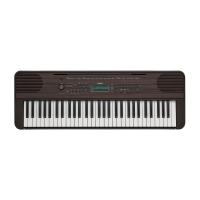 Yamaha PSR E360 Portable Keyboard, Dark Walnut wit...