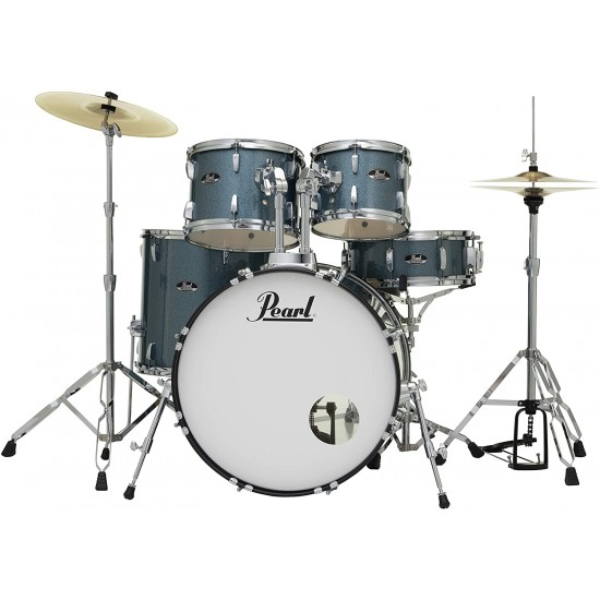 Pearl RS525SC/C703 Complete Drum Set with Cymbals - Aqua Blue Glitter