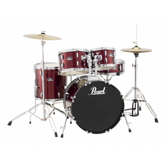 Pearl RS584C/C91 4-piece Complete Drum Set with Cymbals - Wine Red