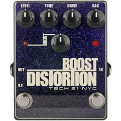 Tech 21 BSTM-D Boost Distortion Metallic - Analog Distortion with Clean Boost