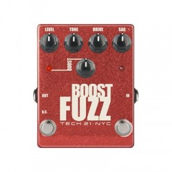 Tech 21 BSTM-F Boost Fuzz Metallic - Analog Fuzz with Clean Boost