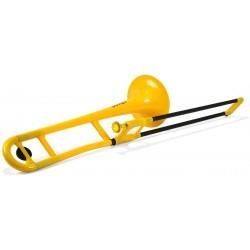 pBone PBONE1YELLOW Plastic Trombone Yellow
